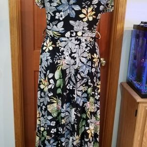 Rags and Couture Dresses - NEW 1X FLORAL ON BLACK BY RAGS & COUTURE